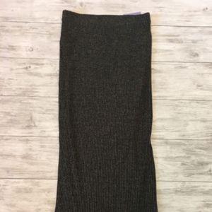 BARDOT Stretch Metallic Thread Maxi Tribe Skirt